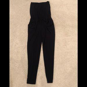 Michael Kors Black strapless jumpsuit.